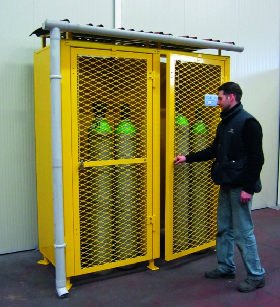 certified safety cage for gas cylinders 6 - Gas Cylinder Cages
