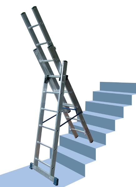 Professional Aluminium Combination Ladders Steps And