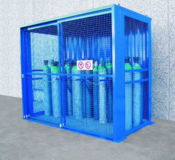 large gas cylinder cage no base closed - Gas Cylinder Cages