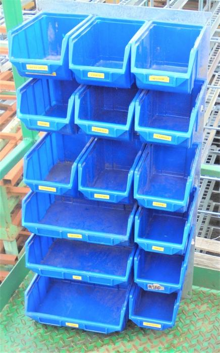 Second Hand Plastic Tote Storage Trays With Metal Wall