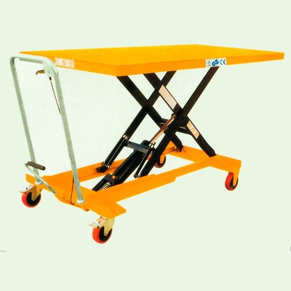 Mobile Hydraulic Scissor Lift Trolley 500 Kg Large Top