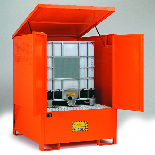 Compact Steel Storage Cabinet For Ibc Steps And Stillages