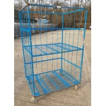 Used Warehouse Trolley With Shelf