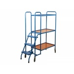 3 Shelf High Plywood Order Picking Trolley