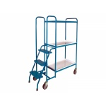 3 Shelf High Order Picking Trolley