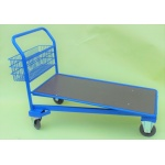 Cash and Carry Flat bed Platform Trolley wooden deck