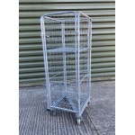 Small 4 Sided Mesh Roll Cage And Shelf Z Base Front