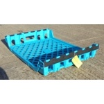 Second Hand Blue Vented Plastic Tray