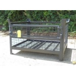Used Mesh Stillage With A Sheet Steel Base