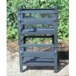 Used Mesh Stillages With A Sheet Steel Base
