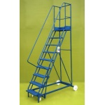 Mobile steps 9 step ladder
