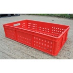 Second Hand Red Vented Stacking Boxes