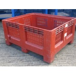 Secondhand Plastic Vented Pallet Box GeoBox