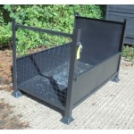 Used Sheet Steel Stillage With Mesh Sides