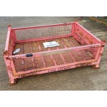 Used folding steel stillage low height open