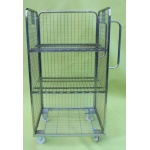3 Sided Merchandising Trolley with 2 shelves