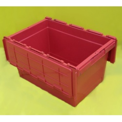 attached lidded container plastic red