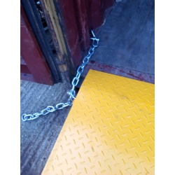 Shipping Container Forklift Ramp security chains