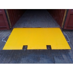 Forklift ramp for Shipping Containers