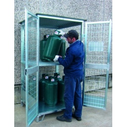 galvanized-gas-cylinder-container-with-shelf