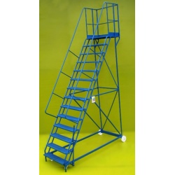Mobile steps 14 step ladder with platform height of 3.5m