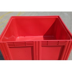 plastic pallet box red 1691c3 inside