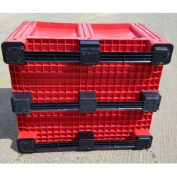 plastic pallet box red 1691c3 3 skids