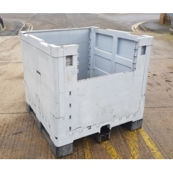 Plastic Rigid Pallet Box with 2/3 Height Front