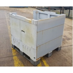 Plastic Rigid Pallet Box with 2/3 Height Front no lid