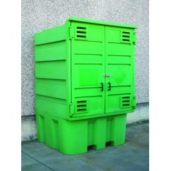 Polyethylene Storage Cabinet with sump for IBC closed