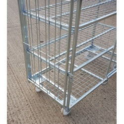 4 Sided 4 Shelf Trolley 702