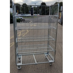 4 Sided 4 Shelf Trolley 703
