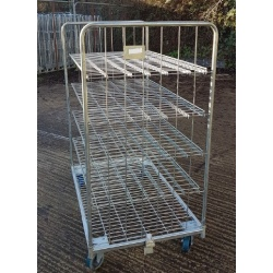 Used 4 Shelf Roll Cage Trolley open back