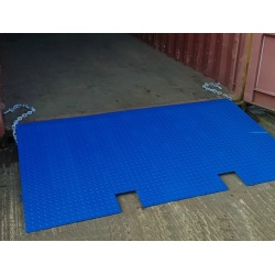 6 ton Shipping Container Ramp for Forklift Truck with chains