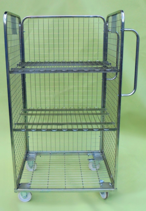 3 Sided Merchandising Trolley Steps And Stillages