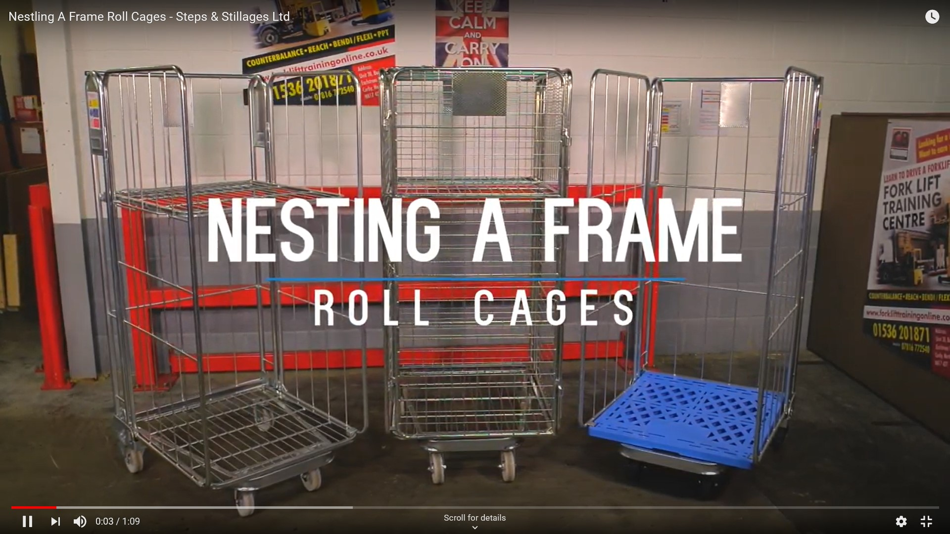A frame nesting roll cage video