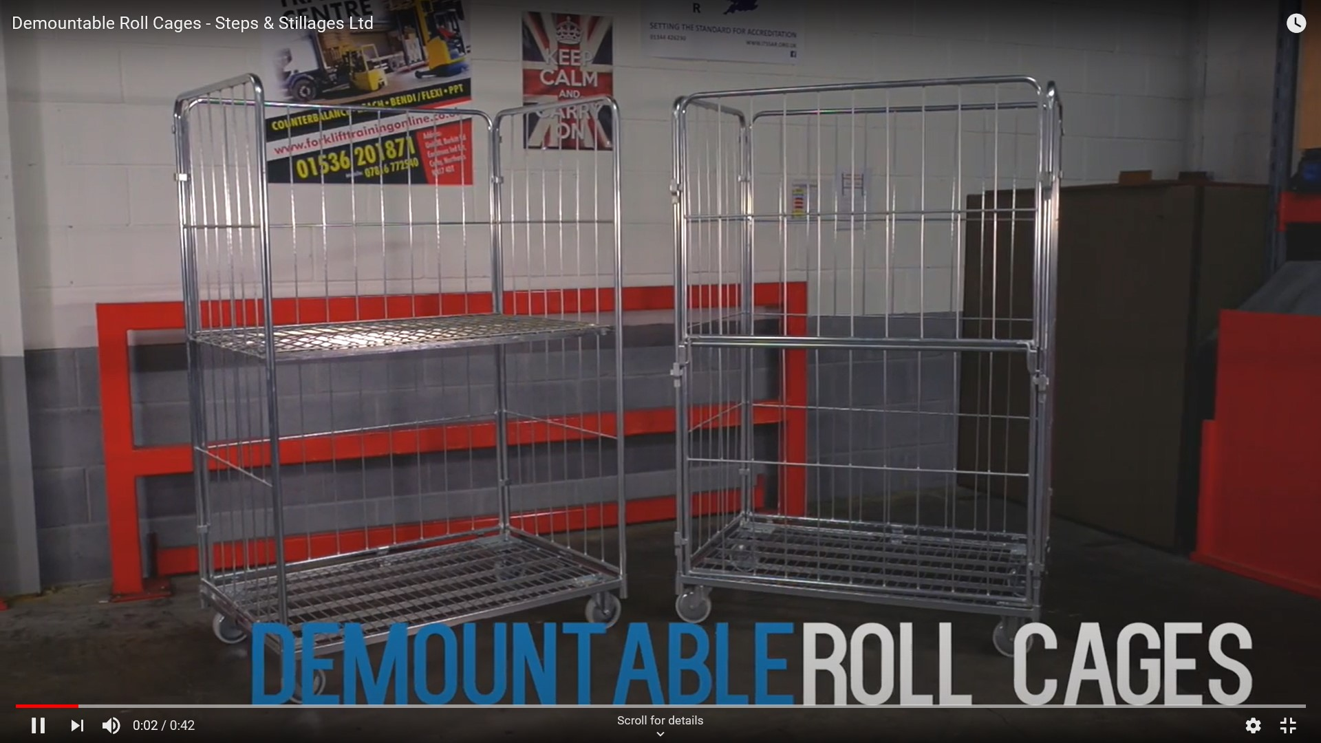 Demountable roll cage video