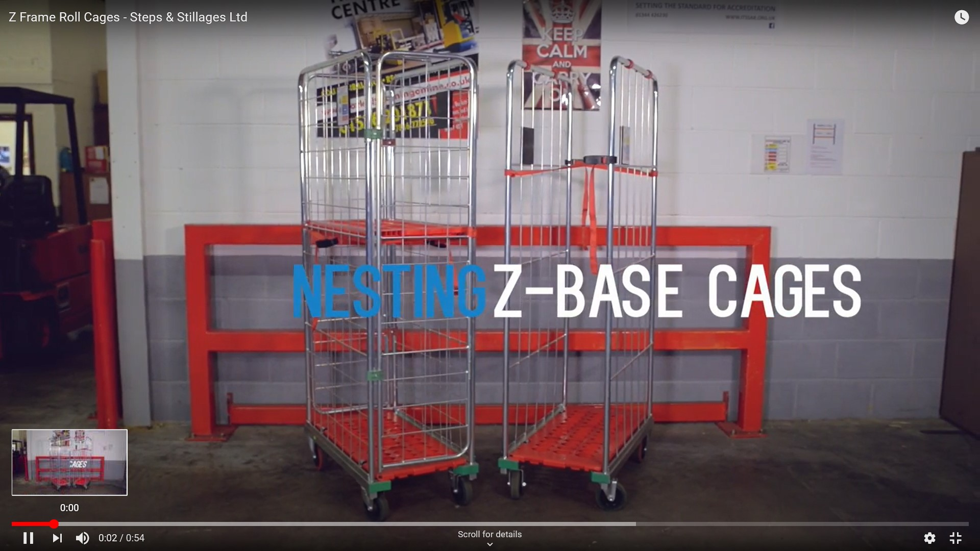 Z base nesting roll cage video