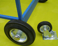 Black Rubber Wheels for access steps