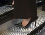 Heel on Mobile Steps