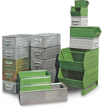 Image of modular boxes stacked