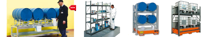 Picture of shelving and racking with sumps