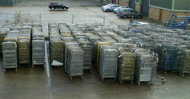 Used Roll Pallets Nested