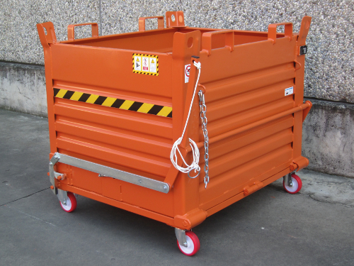Picture of drop bottom skip on wheels